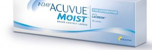 Contact lenses Acuvue moist for astigmatism