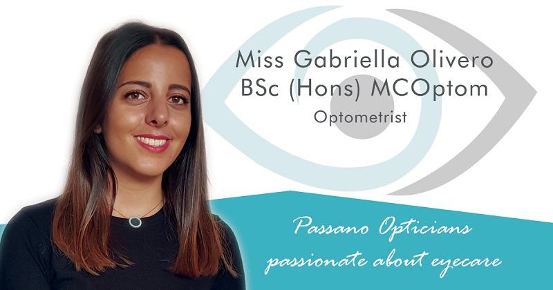 Passano Opticians New Optometrist Gabriella Olivero